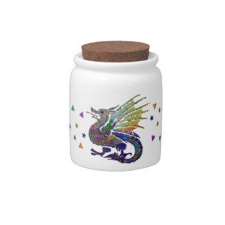 Jeweled Dragon Candy Jars