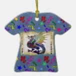 Jeweled Dragon Christmas Ornaments