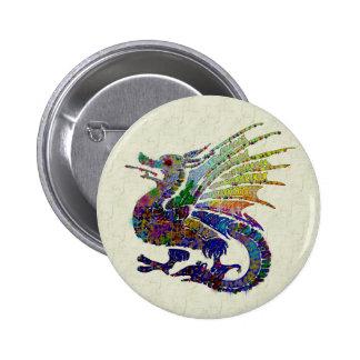 Jeweled Dragon Pinback Button