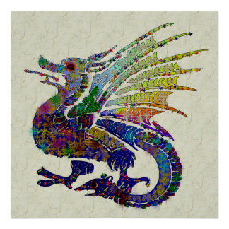 Jeweled Dragon Poster