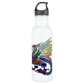 Jeweled Dragon Stainless Steel Water Bottle