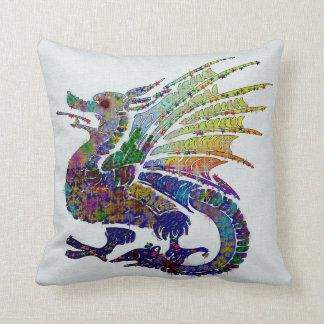 Jeweled Dragon Throw Pillow