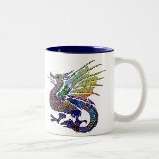 Jeweled Dragon Two-Tone Coffee Mug