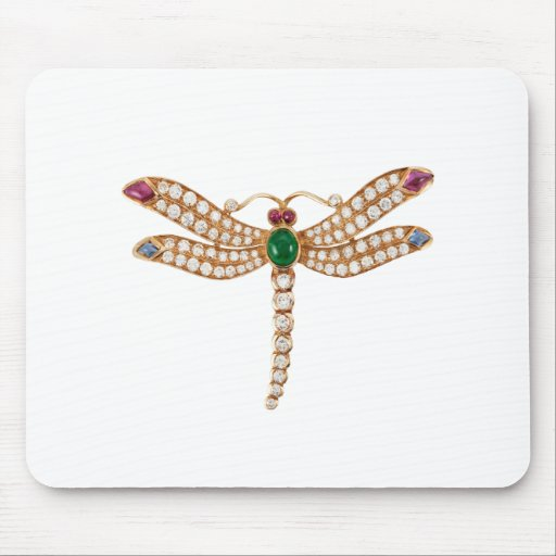 Jeweled Dragonfly Art Mouse Pad