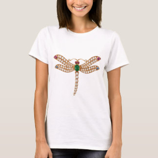 Jeweled Dragonfly Art T-Shirt