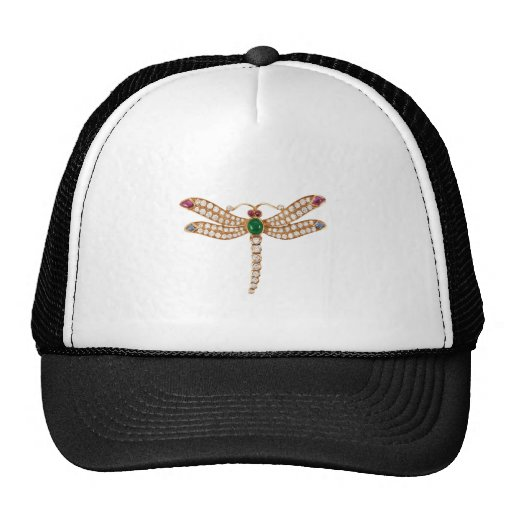 Jeweled Dragonfly Art Trucker Hat