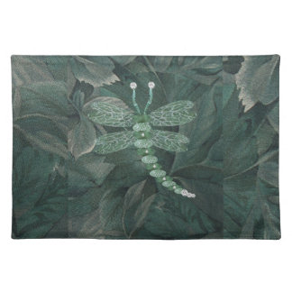 Jeweled Dragonfly Cloth Placemat