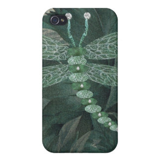 Jeweled Dragonfly Covers For iPhone 4