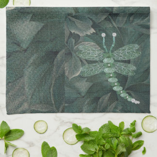 Jeweled Dragonfly Hand Towels
