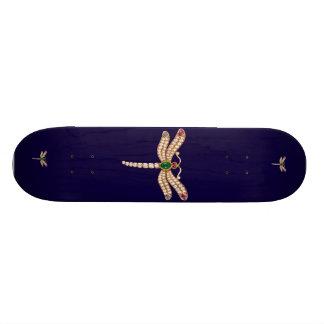Jeweled Dragonfly Skateboard
