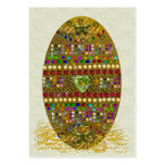 Jeweled Easter Egg Business Card Templates