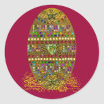 Jeweled Easter Egg Classic Round Sticker