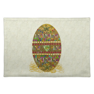 Jeweled Easter Egg Cloth Placemat