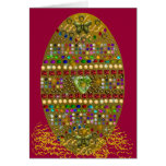 Jeweled Easter Egg Greeting Card