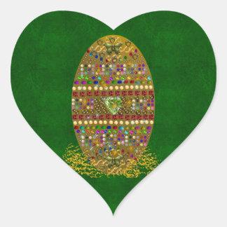 Jeweled Easter Egg Heart Sticker