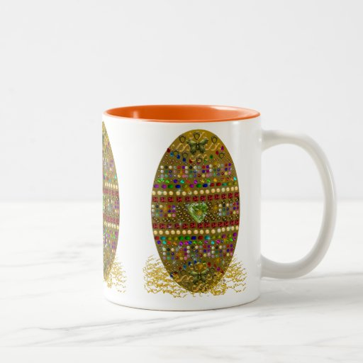 Jeweled Easter Egg Mugs