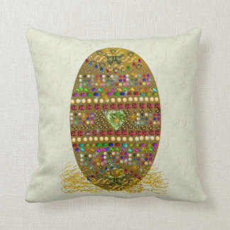 Jeweled Easter Egg Throw Pillow