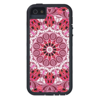 Jeweled Fans, Abstract Lace Candy, Red Pink Rose Case For iPhone SE/5/5s