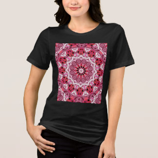 Jeweled Fans, Abstract Lace Candy, Red Pink Rose T-Shirt