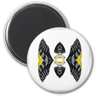 Jeweled Fantasy Butterfly Yellow Polka Dot Boots 2 Inch Round Magnet