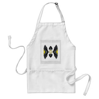 Jeweled Fantasy Butterfly Yellow Polka Dot Boots Adult Apron