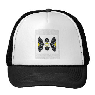 Jeweled Fantasy Butterfly Yellow Polka Dot Boots Trucker Hat