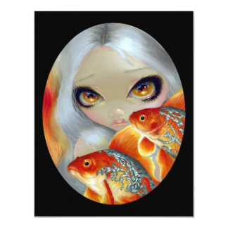 """""""Jeweled Fish:  Silver and Gold"""" Card"""