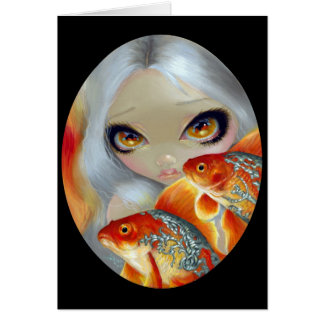 """Jeweled Fish:  Silver and Gold"" Greeting Card"