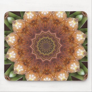 Jeweled Flower Leaves Gold Urn Green Purple Grapes Mouse Pads