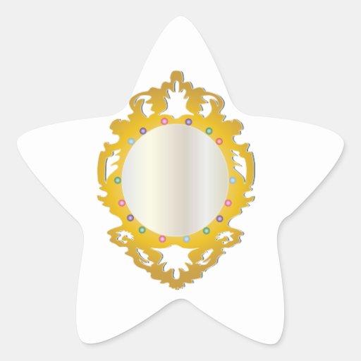 Jeweled Framed Mirror Star Stickers