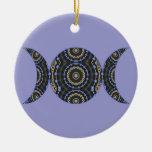 Jeweled Goddess Triple Moon Ornaments