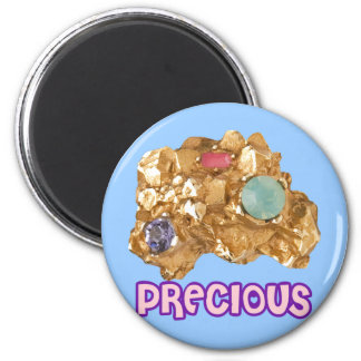 Jeweled Gold Nugget Magnet