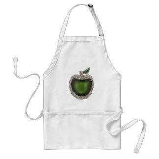 Jeweled Green Apple Adult Apron