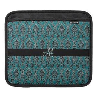 Jeweled Jade Damask Boho Glam iPad Sleeve