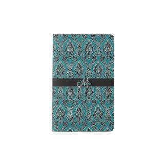 Jeweled Jade Damask Boho Glam Pocket Moleskine Notebook
