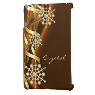 Jeweled Jazzy Snowflake Orange Mini Ipad Case