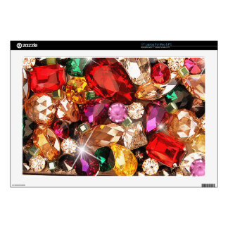 "Jeweled Jewels Sparkle Gems Color 17"" Laptop Decal"