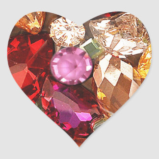 Jeweled Jewels Sparkle Gems Color Heart Sticker