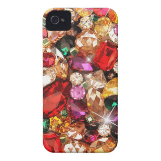 Jeweled Jewels Sparkle Gems Color iPhone 4 Case-Mate Cases