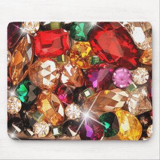 Jeweled Jewels Sparkle Gems Color Mouse Pad