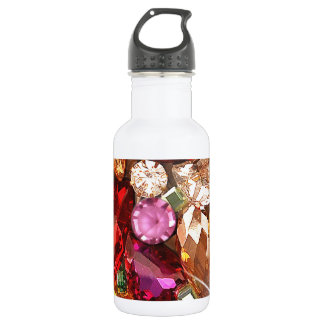 Jeweled Jewels Sparkle Gems Color Water Bottle