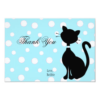 Jeweled Kitty in Blue Card