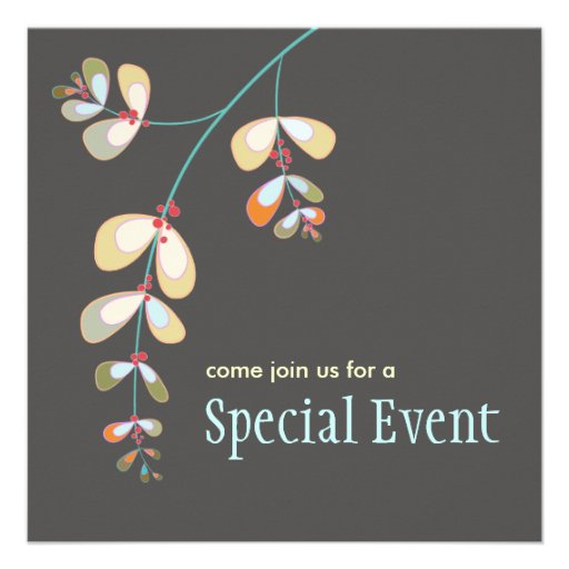 Jeweled Leaves Invitation