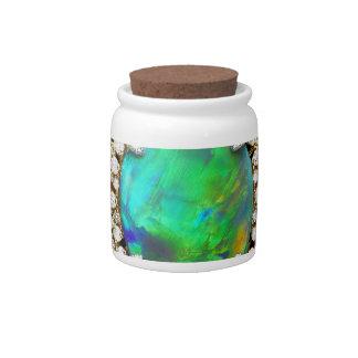 Jeweled Mandala Candy Jar