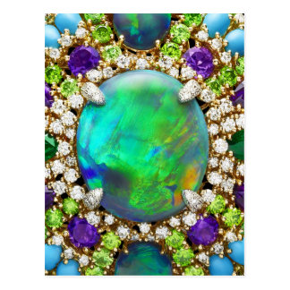 Jeweled Mandala Postcard