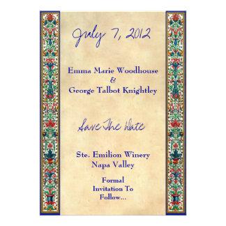 Jeweled Medieval Manuscript  Invitation Card