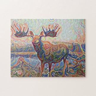 Jeweled Moose Jigsaw Puzzle
