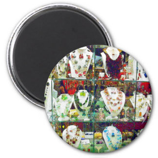 Jeweled Necklace Display Magnet