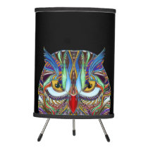 Jeweled Owl, Tripod Lamp