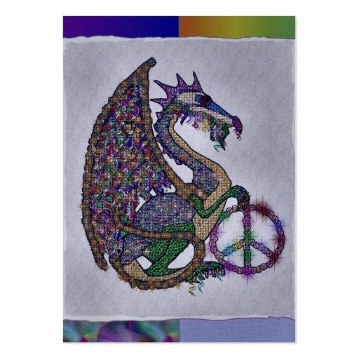 Jeweled Peace Dragon Business Card Templates